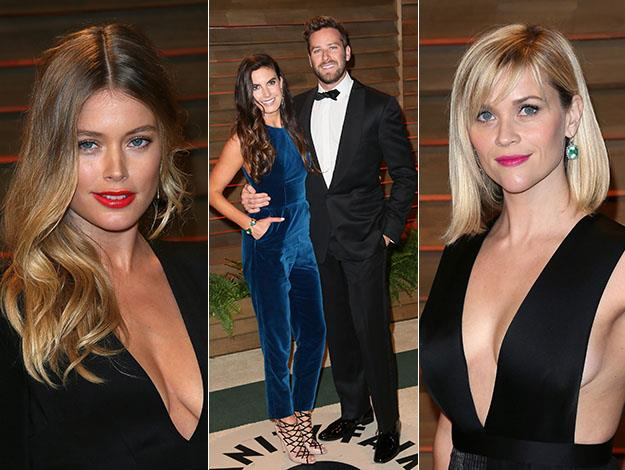 Doutzen Kroes, Armie Hammer and Reese Witherspoon. Photos: Getty Images