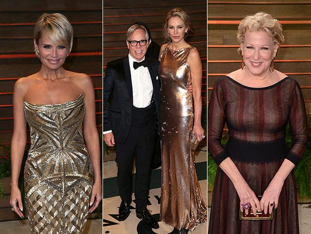 Kristin Chenoweth, Tommy Hilfiger and wife Dee Ocleppo, and Bette Midler. Photos: Getty Images