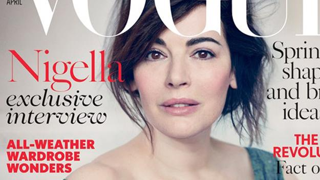 A make-up free Nigella on the cover of Vogue.