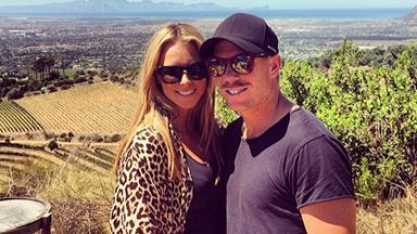 David Warner and Candice Falzon engaged and expecting
