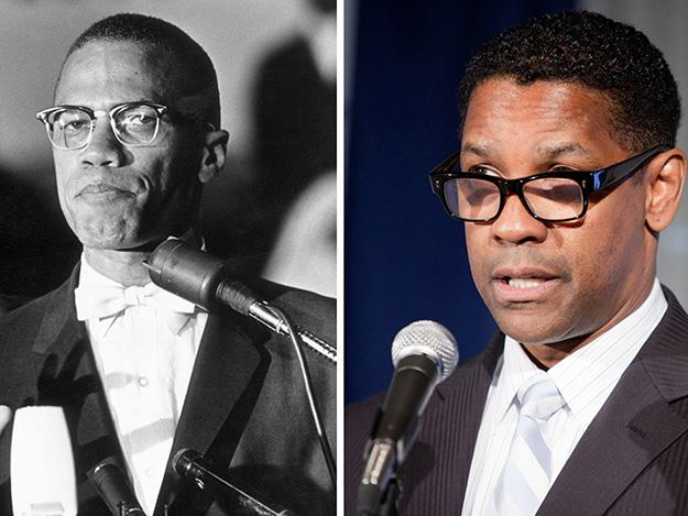 Malcom X as brought to life in an Oscar nominated performance by Denzel Washington in 1992's movie, Malcom X.
