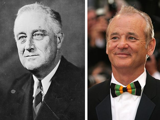 2012's Hyde Park on Hudson saw Bill Murray transform into philandering American president Franklin D. Roosevelt.