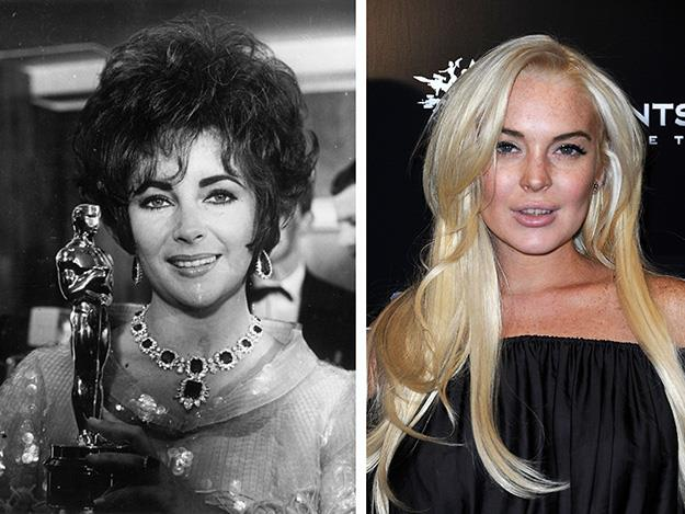 Lindsey Lohan played Elizabeth Taylor in 2012's TV movie Liz and Dick.