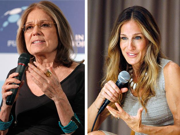 Sarah Jessica Parker also starred in Lovelace as feminist journalist, Gloria Steinem but unfortunately SJP's scenes were left on the cutting room floor.