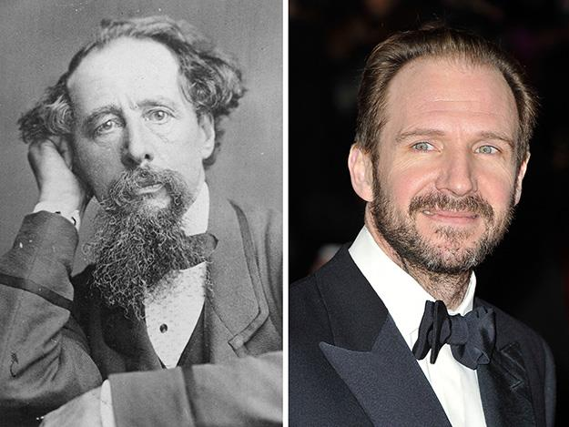 Ralph Fiennes plays Charles Dickens in the 2013 film The Invisible Woman.