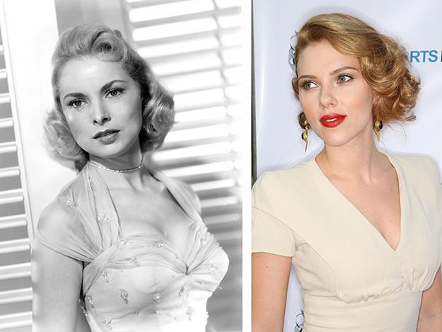 Scarlett Johnansson transformed into Hitchcock's muse, Janet Leigh in 2012's Hitchcock.