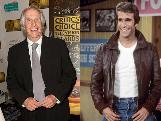 "Henry Winkler was 17 years older than his Happy Days character Arthur ""Fonzie"" Fonzarelli."