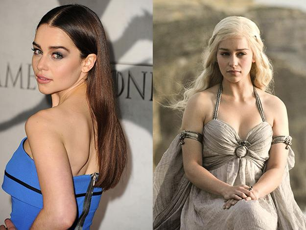 Emilia Clarke plays Daenerys Targaryen on Game of Thrones. While Daenerys' approximate age on GOT is 16 Emilia's actually a decade older at 26.