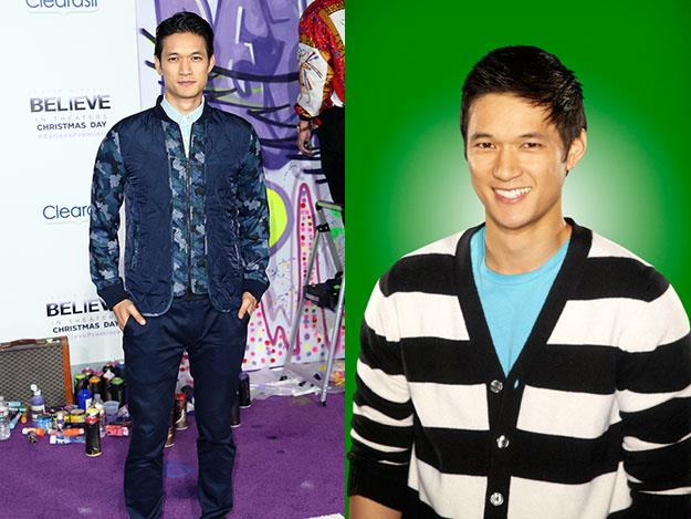 Harry Shum Jr. plays Mike Chang on Glee. Mike's approximate age on Glee is around 19 while Harry is 31.