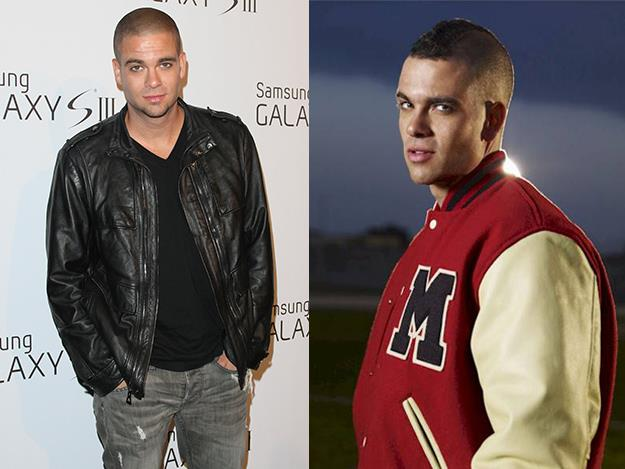 Mark Salling who plays hunky teen Puck on Glee is actually 31 while his onscreen character is around 19.