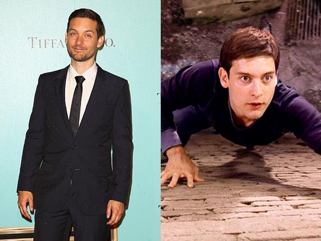 Tobey Maguire was 26 while filming Spider-Man in 2002 when he played 17-year-old Peter Parker.