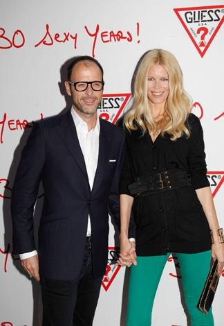 German born model Claudia Schiffer, 43, lives in London with her husband of over a decade, Matthew Vaughn. Vaughn, 43, is a British film producer, director and screenwriter and has three children with the supermodel.