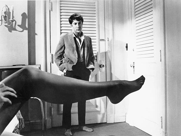 "The Graduate Misquote: ""Mrs. Robinson, are you trying to seduce me?"" Actual movie quote: ""Mrs. Robinson, you're trying to seduce me. Aren't you?"""