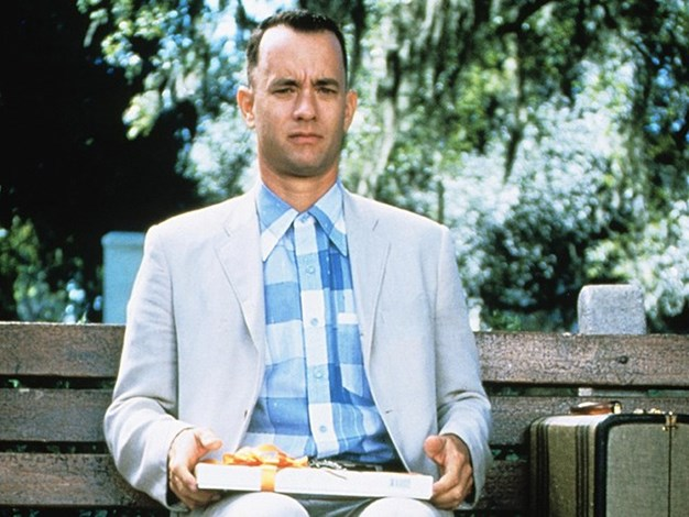 "Forrest Gump Misquote: ""Life is like a box of chocolates."" Actual movie quote: ""Life was like a box of chocolates."""