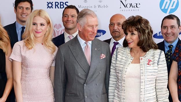 Prince Charles and Joan Collins