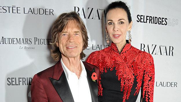 L'Wren Scott and Mick Jagger.