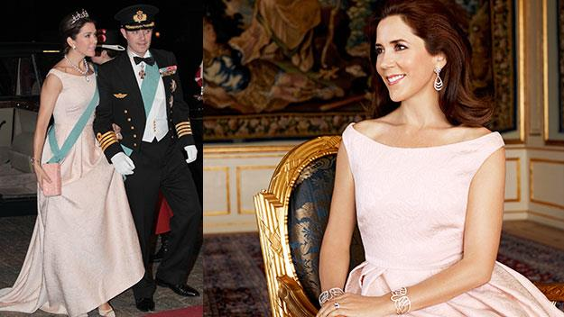 Crown Princess Mary this week, and during The Weekly's photo shoot.