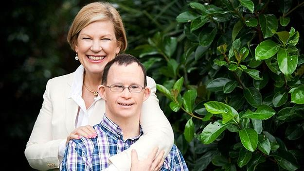 Ann Sherry and her son Nicholas.