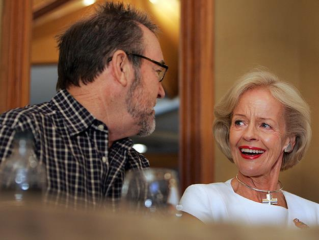 Musician John Williamson speaks with Australian Governor General Quentin Bryce during a ceremony in recognition of his 40 years in the music industry at Tamworth Country Music Festival on January 21, 2010 in Tamworth.