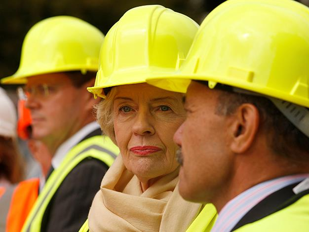 Quentin Bryce earthquake affected Christchurch in New Zealand in March 2011.