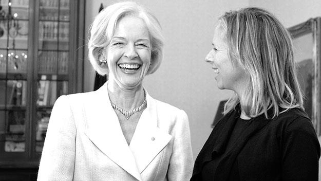 Dame Quentin Bryce with The Weekly's editor-in-chief Helen McCabe.