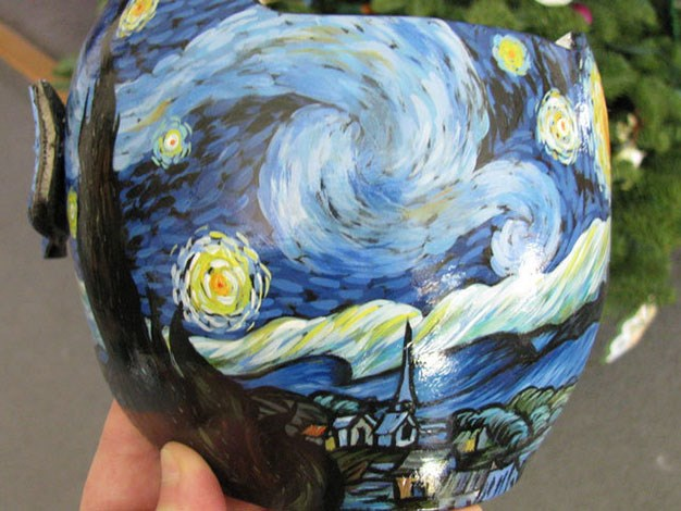 A rendering of Vincent Van Gogh's famous The Starry Night painting.