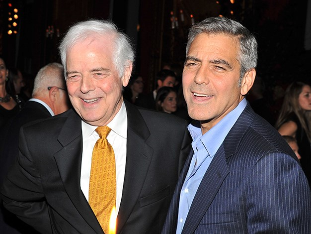 George Clooney is the son of Nick Clooney, a former news anchorman and TV host. Clooney's aunt was American singer and actress, Rosemary Clooney and her husband was legendary actor and Academy Award winner Jose Ferrer.