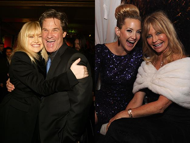 Kate Hudson has inherited her mother Goldie Hawn's comic timing to carve out a successful Hollywood career of her own. Hudson's stepfather, who raised the actress from when she was young, is action star Kurt Russell.