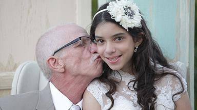 Dying dad walks daughter, 11, down aisle