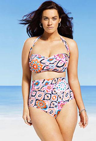 """I'm super passionate about plus-size women wearing great swimsuits unapologetically,"" Gabi says."