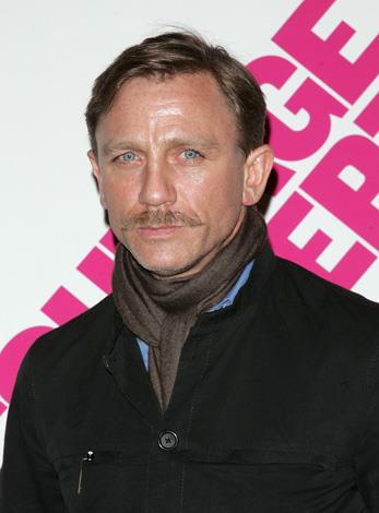Daniel Craig tried to do his best attempt at looking dapper but didn't win too many fans with his 'tache.