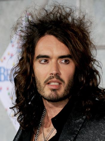 If Russell Brand won't even put a brush through his hair what is the likelihood he's going to man-scape himself a tidy beard?