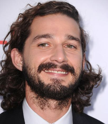 Baby faces and moustaches just do not mix Shia Labeouf.