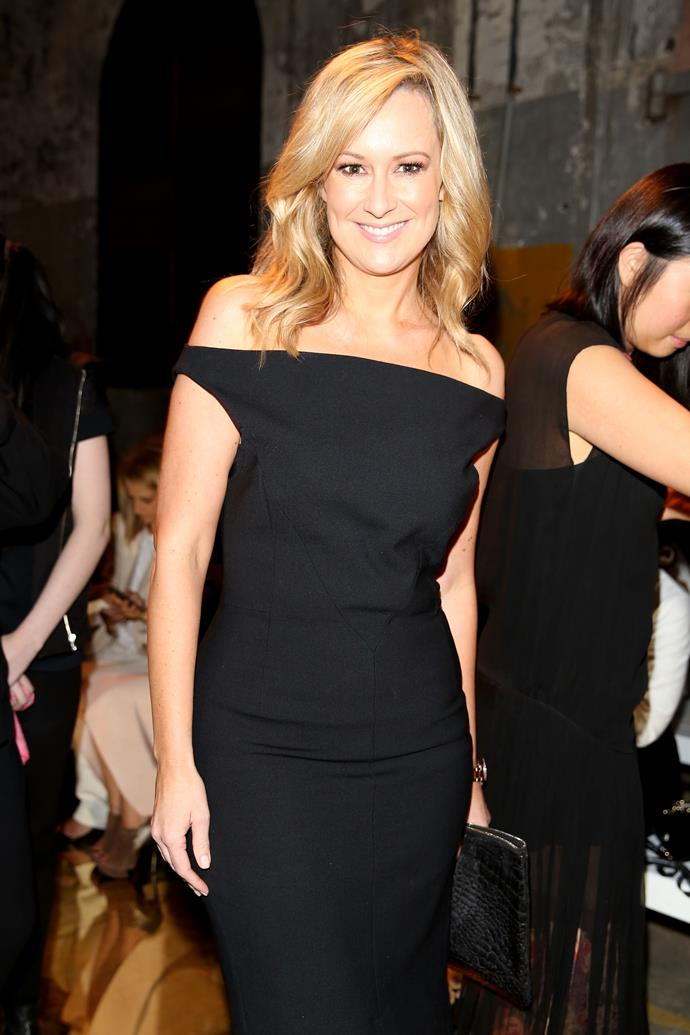 Channel Seven presenter Melissa Doyle attends the Alex Perry show.