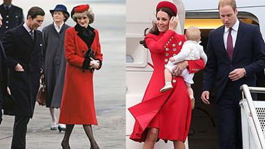 Ladies in Red: Kate Middleton and Princess Diana