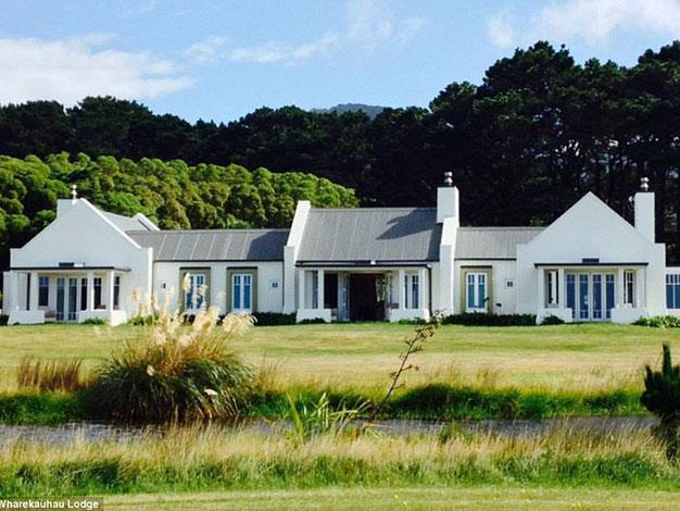 The lodge is one of New Zealand's most luxurious guest houses.