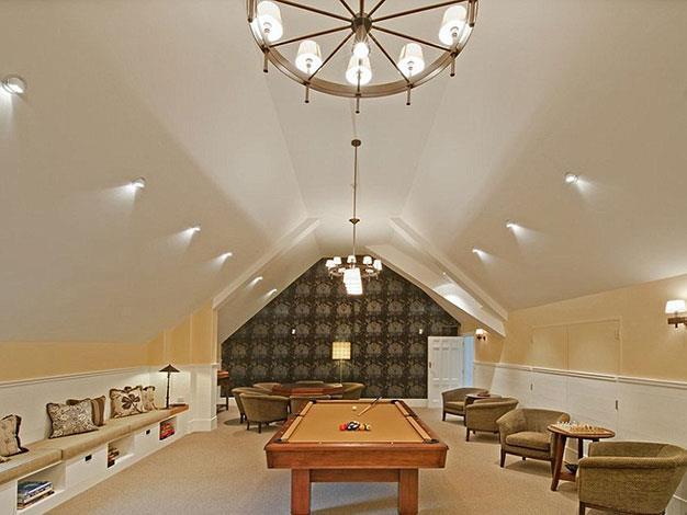 A billiards room.