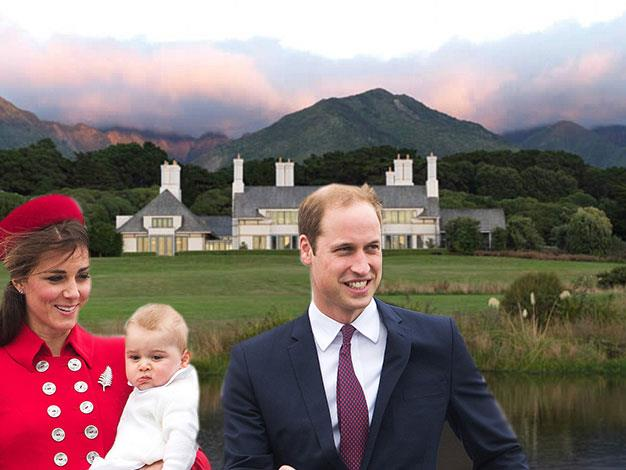 William, Kate and baby George have enjoyed a day and night at one of the New Zealand's most luxurious guest houses.