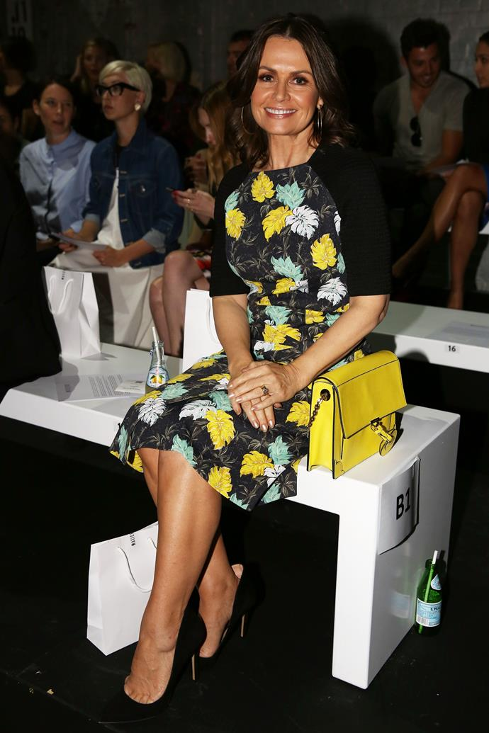 Today show co-host Lisa Wilkinson at the Maticevski show.
