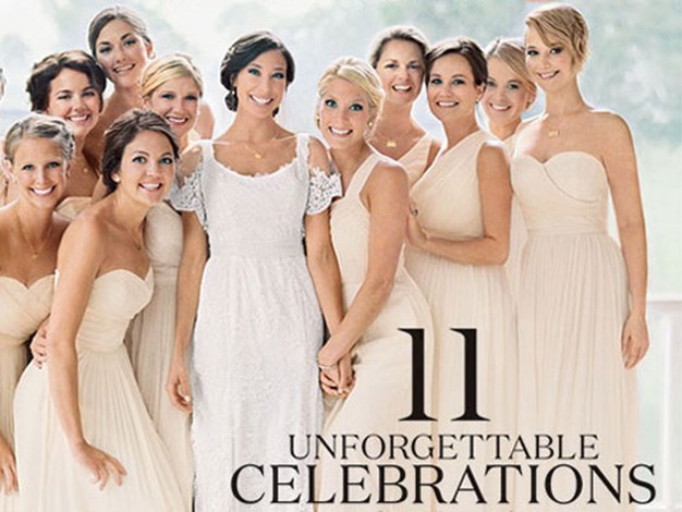 Jennifer Lawrence (far right) is all smiles while playing doting bridesmaid at her brother's wedding.