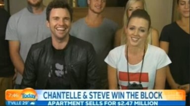 Steve and Chantelle win The Block