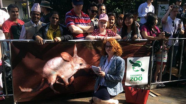 The Australian Women's Weekly's Royal Correspondent Juliet Rieden at Taronga Zoo.