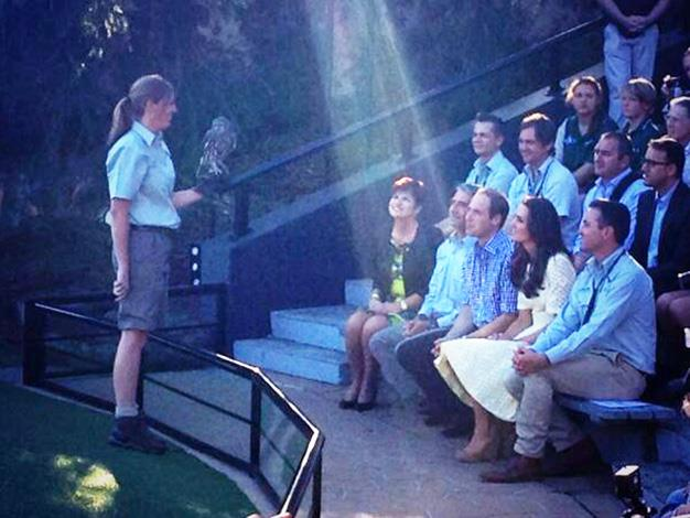 Kate and Wills front row at the bird show. Photo: @Kathy_Novak via Twitter