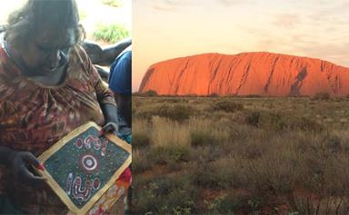 A traditional Aboriginal painting for Prince George