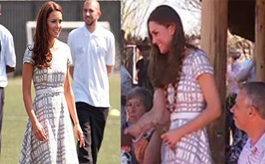 Kate Middleton recycles dress for Uluru trip