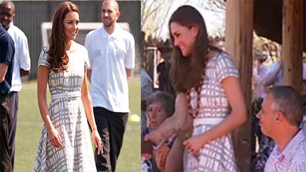Kate Middleton in recycled dress Uluru