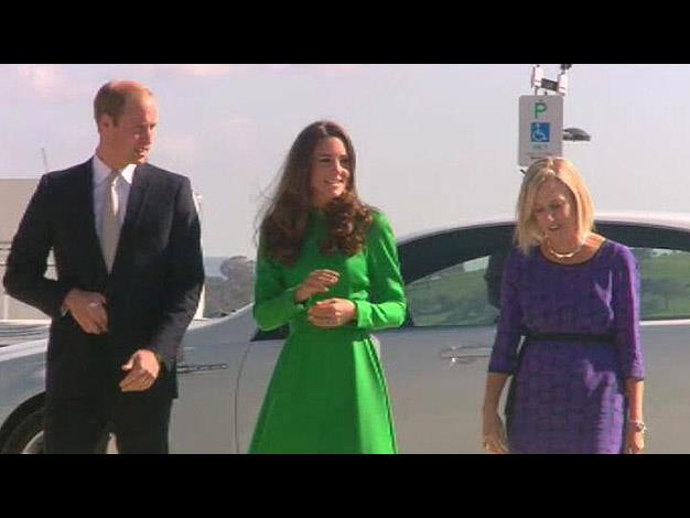 Kate and Wills arrive at the National Arboretum. Photo: @britishroyals via Twitter
