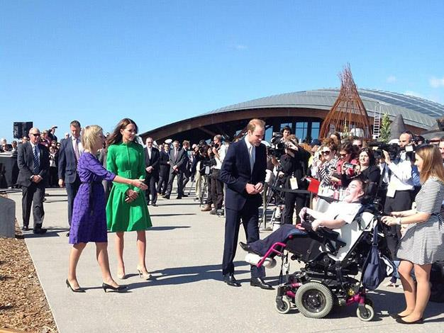 The Duke and Duchess at the arboretum. Photo: @canberratimes via Twitter