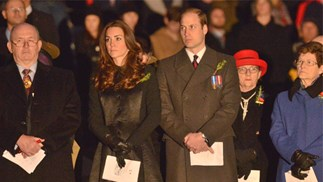 Prince William and Kate Middleton at Dawn Service
