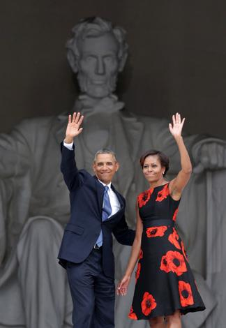 The pair attended the 50th anniversary of Dr. Martin Luther King Jr.'s 'I Have a Dream' speech in Washington.